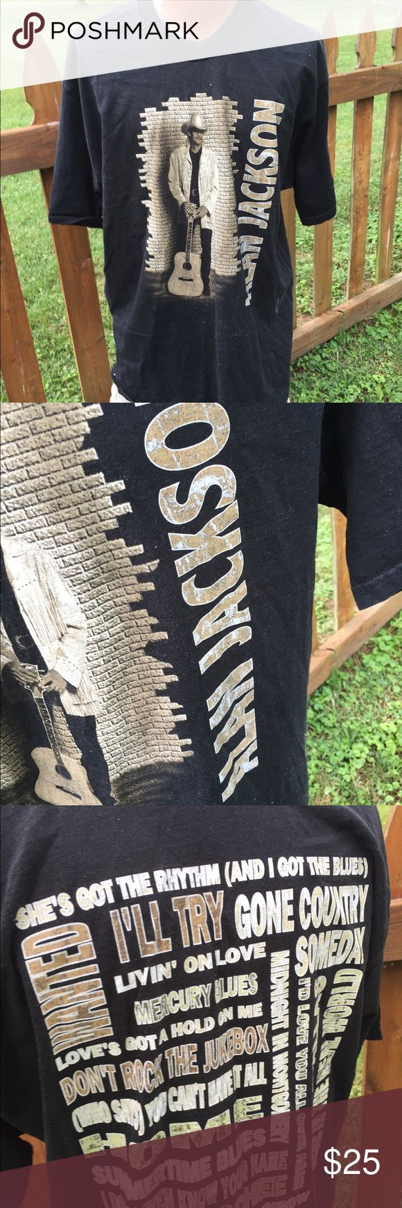 Vintage Alan Jackson Concert Tour Mens Shirt XL Size XL. Awesome vintage shirt. Be sure to view the other items in our closet. We offer  women's, Mens and kids items in a variety of sizes. Bundle and save!! We love reasonable offers!! Thank you for viewing our item!! Fruit of the Loom Shirts Tees - Short Sleeve