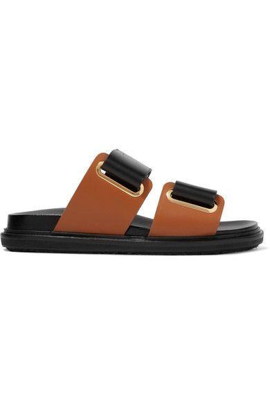 Marni - Leather Slides - Black