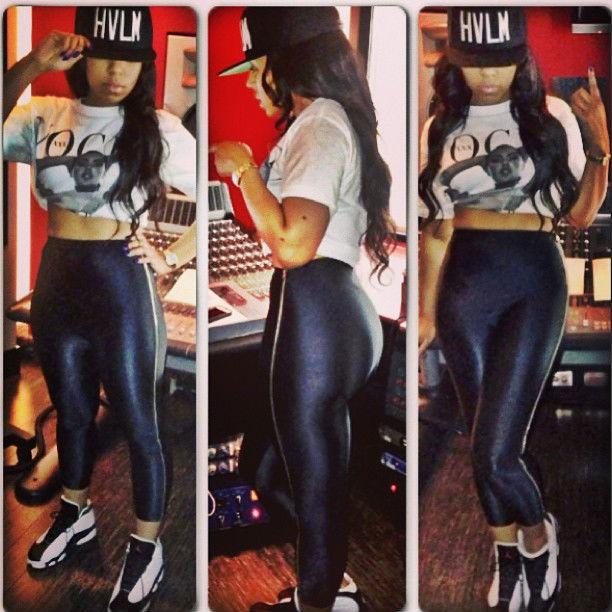 Ashanti wearing Jordan Retro XIII | Celebrity Sneakers ...