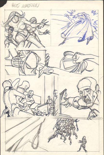 Best Comic Book Rough BreakdownsNamesThumbnails Images On