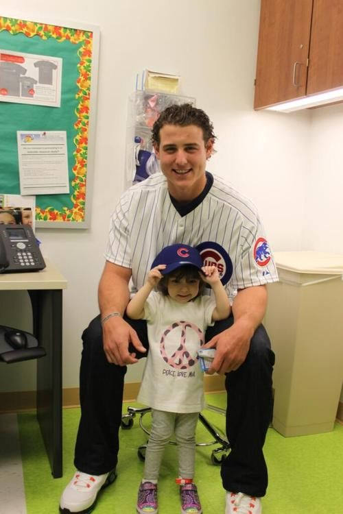 Anthony Rizzo visiting the Children's Hospital