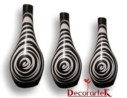jarrones de barro decorativos - decoracion diseño artesanal - modernista - Tlaquepaque - Productos prontos - Artesanía