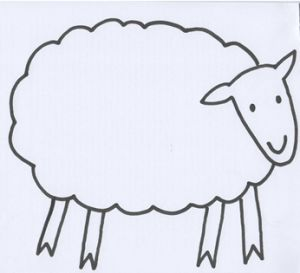 THE Sheep - from Mem Fox's book - Where is the Green Sheep?