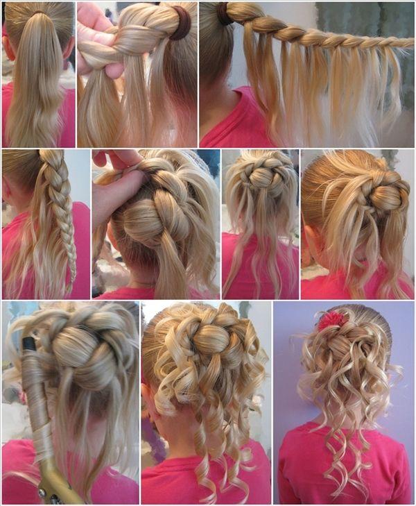 Wonderful DIY Feather Braided Bun Hairstyle   WonderfulDIY.com