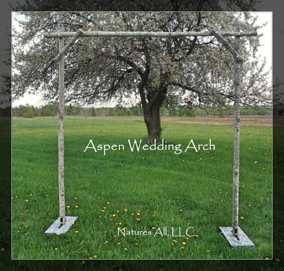~~~~ON SALE NOW!!! ~~~~~ ~~~~~SHIPPING IS INCLUDED IN THE PRICE!!~~~~~  This DIY Aspen Wedding Arch Kit is available from Natures All, LLC. Our Aspen Poles are harvested in Northern Wisconsin. Aspen bark is smooth and can range in colors from white to grey and have some basil green tints. Aspen may also have black markings throughout.  The photos shown are examples of what you may see in a set. Please note that colors and diameters may vary per set. You will also find that the aspen does…