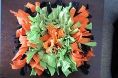 Schnüffelteppich für Hunde selbermachen - eine klasse Idee!