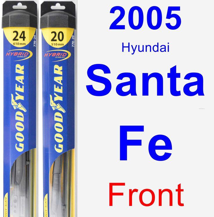 Front Wiper Blade Pack for 2005 Hyundai Santa Fe - Hybrid