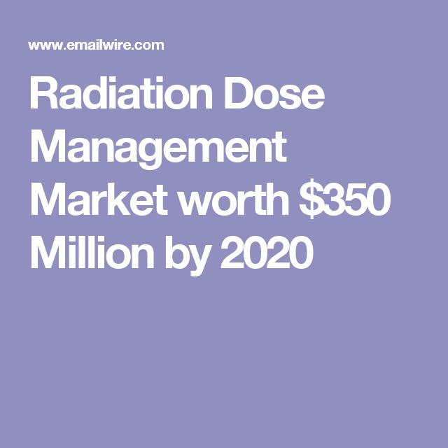 Radiation Dose Management Market worth $350 Million by 2020