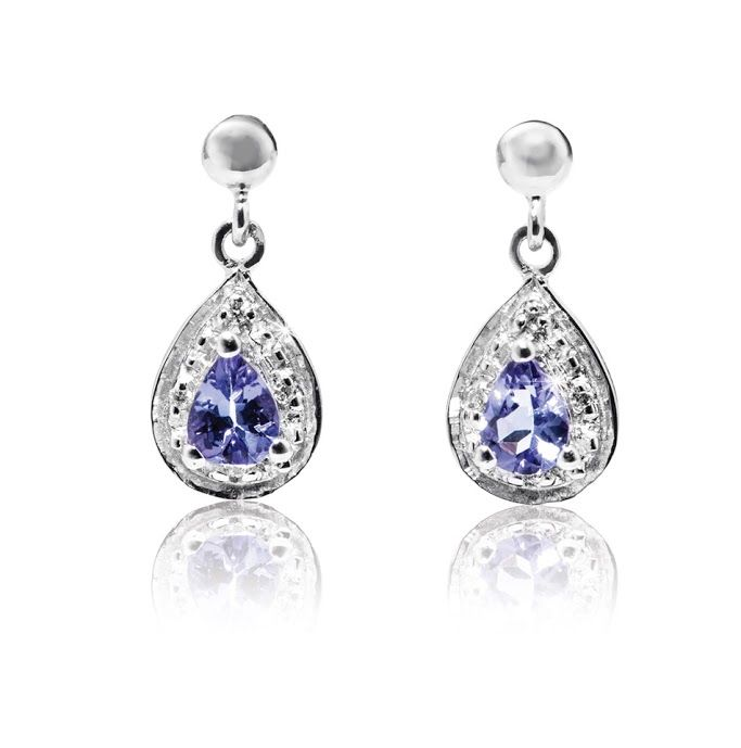 9ct Diamond and Tanzanite Earrings R1,989  *Prices Valid Until 25 Dec 2013