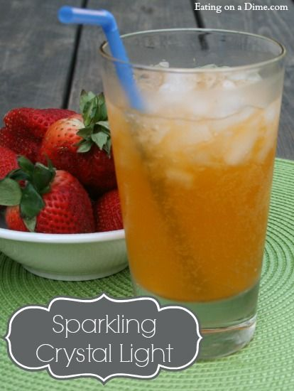 Sparkling crystal light drink recipe - a delicious and refreshing drink!