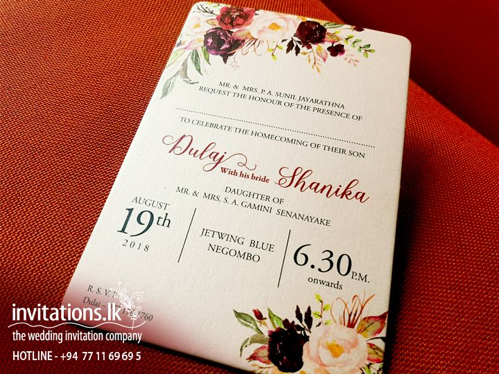 wedding invitations cards sri lanka
