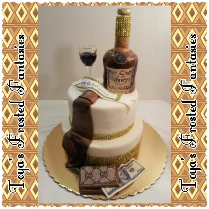 Hennessey Themed Birthday Cake Gallery Of Cakes I Made