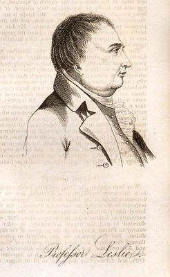 Public Characters -1823- by Phillips - PROFESSOR LESLIE - Engraving