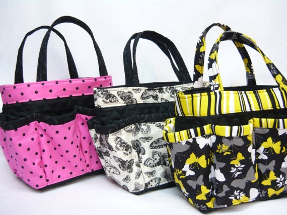 Black Butterfly Large Bingo Bag Great For By