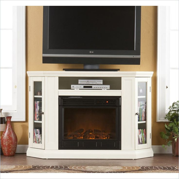 Electric Fireplace corner electric fireplace media center : 459 best plug in fireplaces images on Pinterest