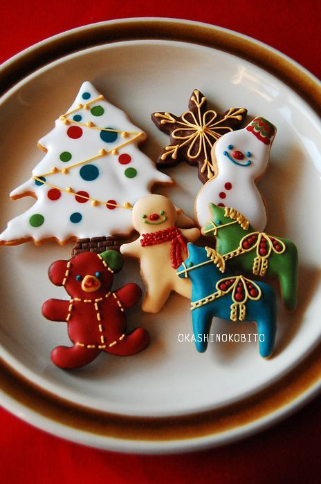 Simple but beautiful Christmas cookies