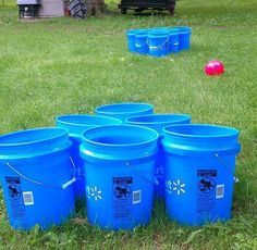 Love this twist on beer pong!  But what do you drink if the ball goes into your bucket????