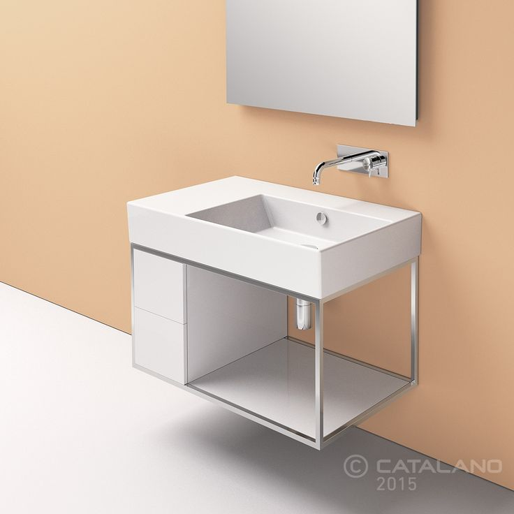 Discover All The Information About The Product Countertop Washbasin /  Rectangular / Ceramic / Contemporary PREMIUM UP: 80 DX , 80 SX   CATALANO  And Find ...