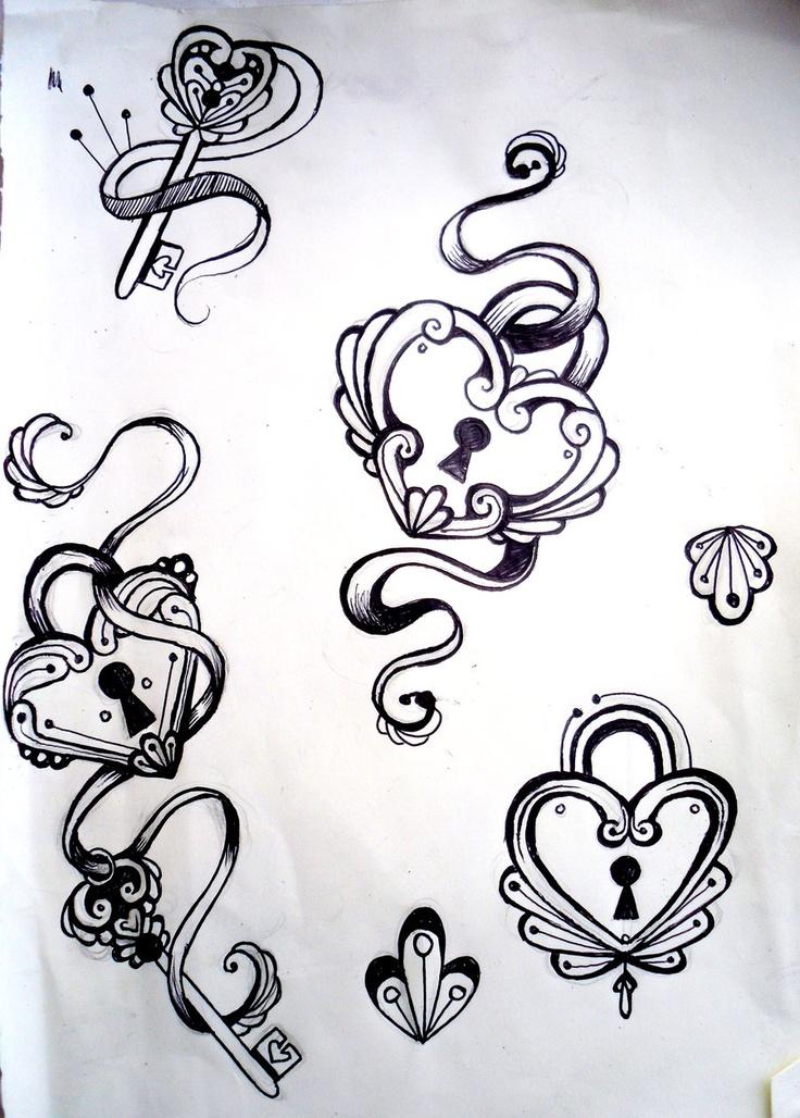 Hearts,Keys,Ribbons. by ~VengeanceKitty on deviantART