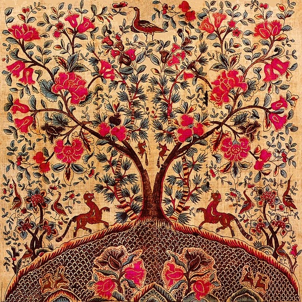 Double Tree of Life Tile - Anna Chandler.