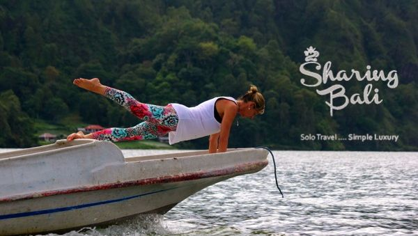 Fusion Fitness. Anytime. Anywhere.  Pilates whilst crossing Lake Batur Bali. So much fun Sharing Bali Style. Simple Luxury.