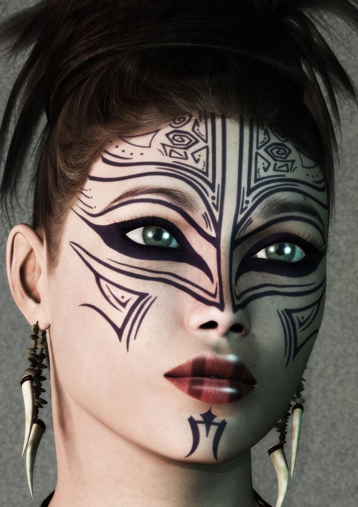 Painted Face by ~HartOz on deviantART