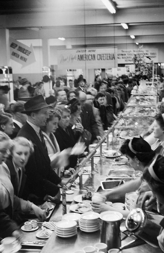 1952: Myer's cafeteria packed in the crowds. Picture: Herald Sun Image Library/ ARGUS