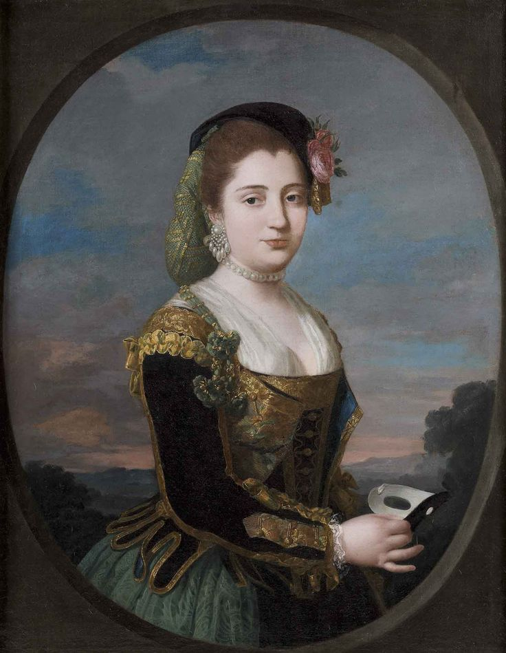 Portrait of a Woman with a Mask by Anton Raphael Mengs (German 1728–1779)