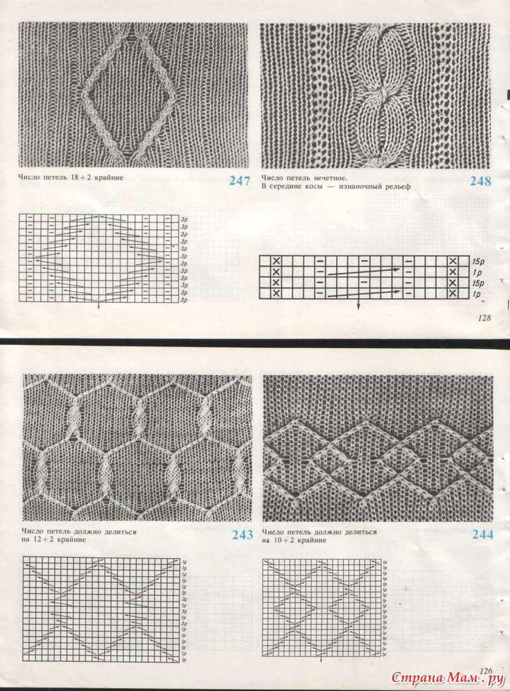 Узоры для вязания на машине: Фото альбомы - Страна Мам