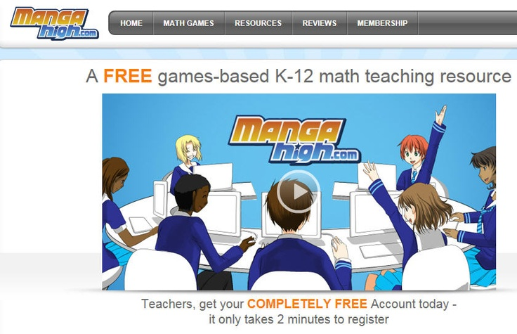 Mangahigh com is one of the world s first games based learning sites