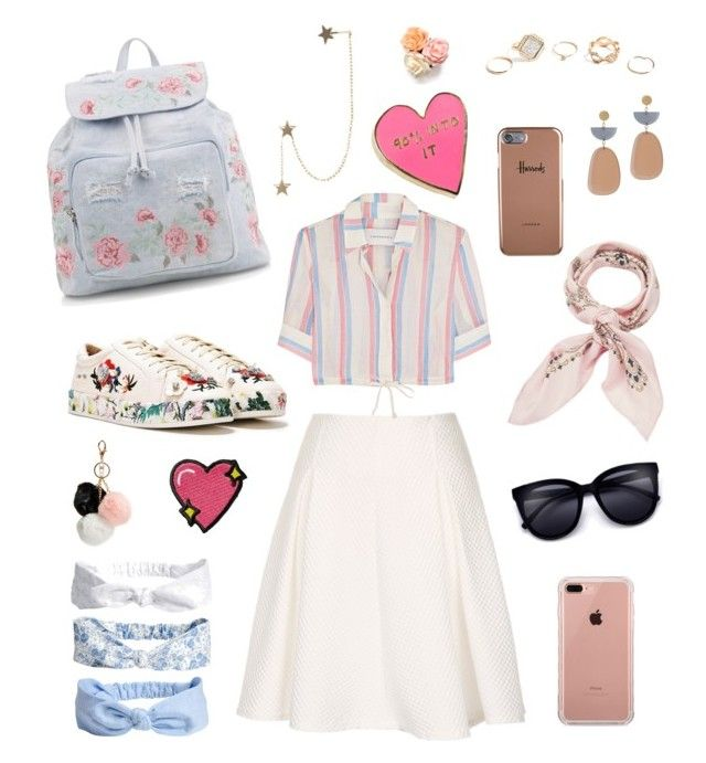 """""""peachy arts"""" by nabillarzkynt on Polyvore featuring Nasty Gal, Solid & Striped, New Look, Belkin, Manipuri, Isabel Marant, Valley Cruise Press, GUESS, Zimmermann and Harrods"""