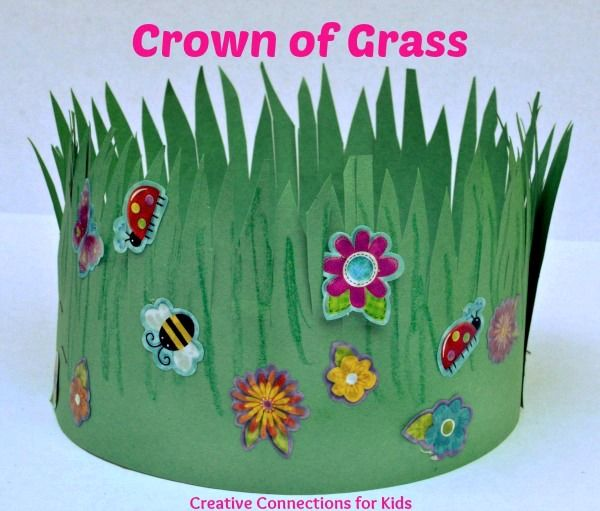 Crown of Grass- Insect unit ,first day of spring, &/or scissor practice