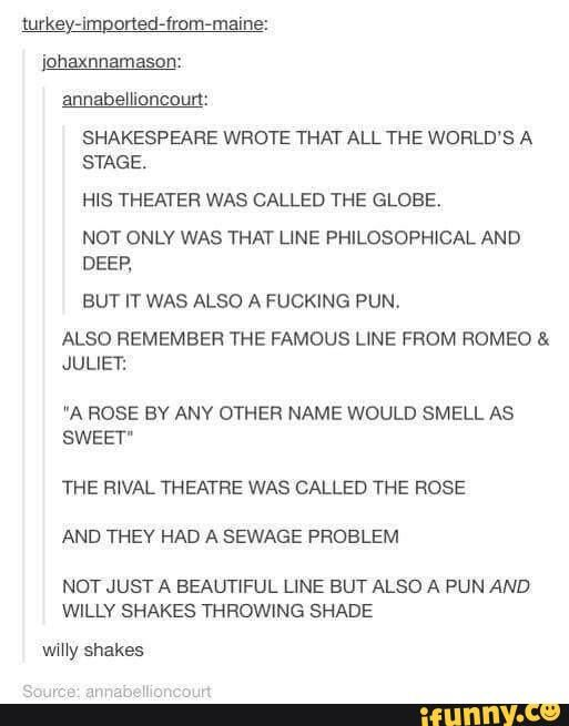 Image result for tumblr post shakespeare