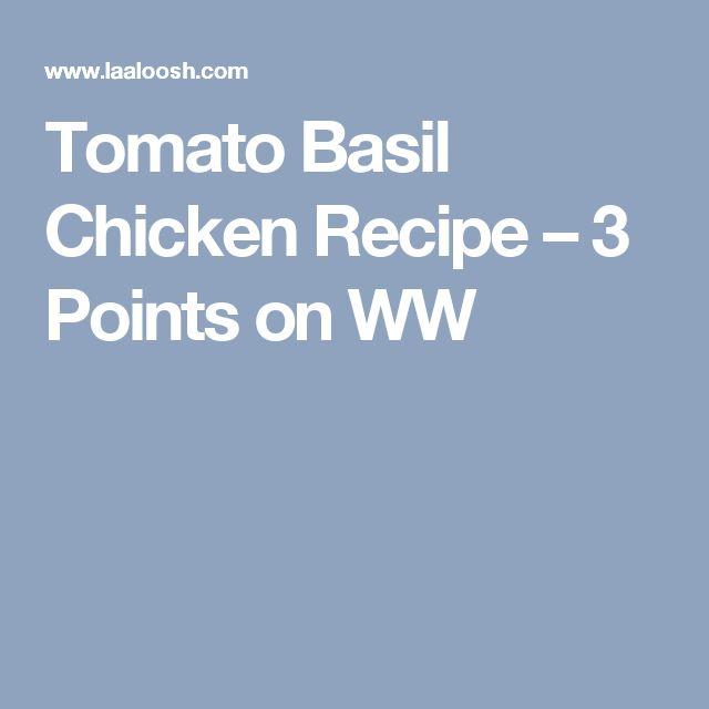 Tomato Basil Chicken Recipe – 3 Points on WW