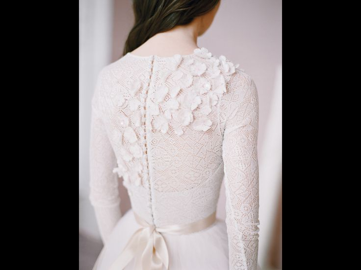 Wedding Dress Long Sleeve, Tulle Wedding Gown