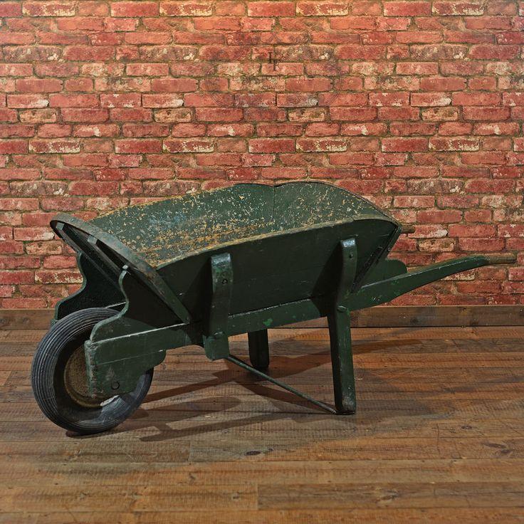 Antique Victorian Garden Wheelbarrow, Wooden Display Cart, Planter, 19th  Century