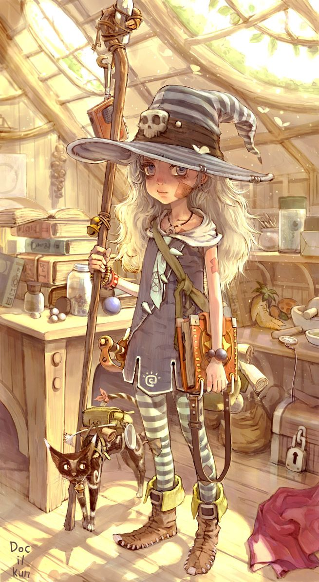 Not a very happy looking witch