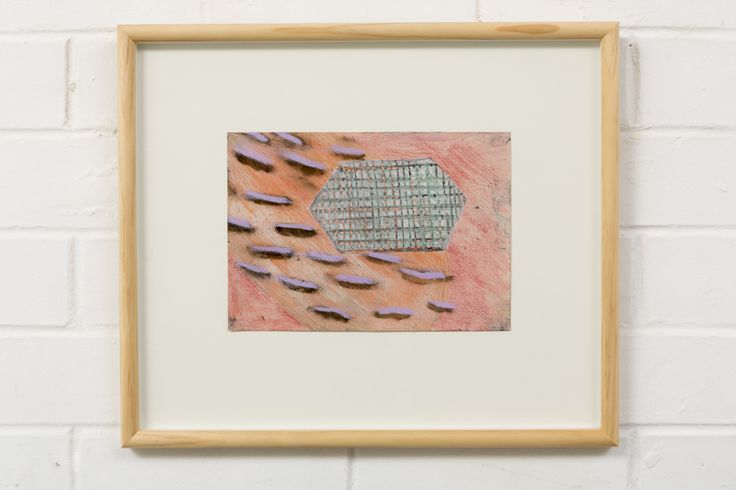 Adrienne Vaughan, Scubble, 2014, Oil on paper, 315 x 370mm (framed dimensions)
