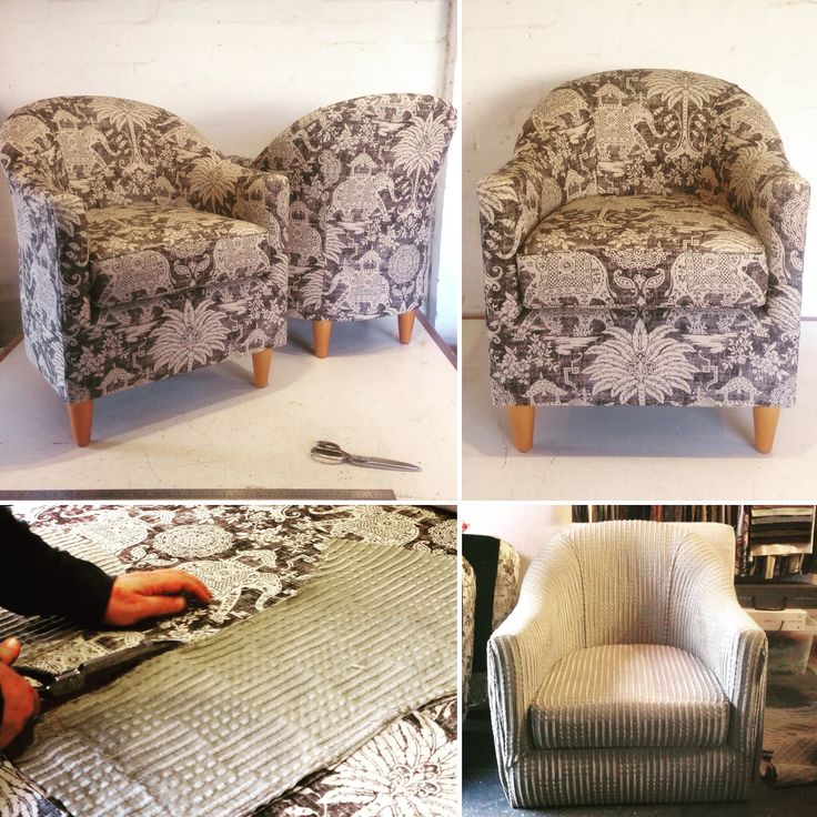 New upholstery in Warwick Fabrics