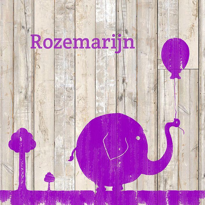 Een vrolijke olifant! Mocht je niet van paars houden, hij is ook in andere kleuren beschikbaar :)
