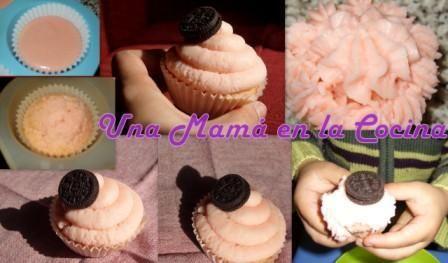 Cupcake sabor Algodón de Azúcar