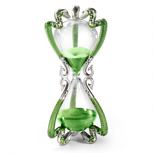 Slughorn Hourglass by Noble Collection  Bring a piece of Slytherin House home with you with this Slughorn Hourglass that's a perfect replica of the one seen in the Harry Potter film.