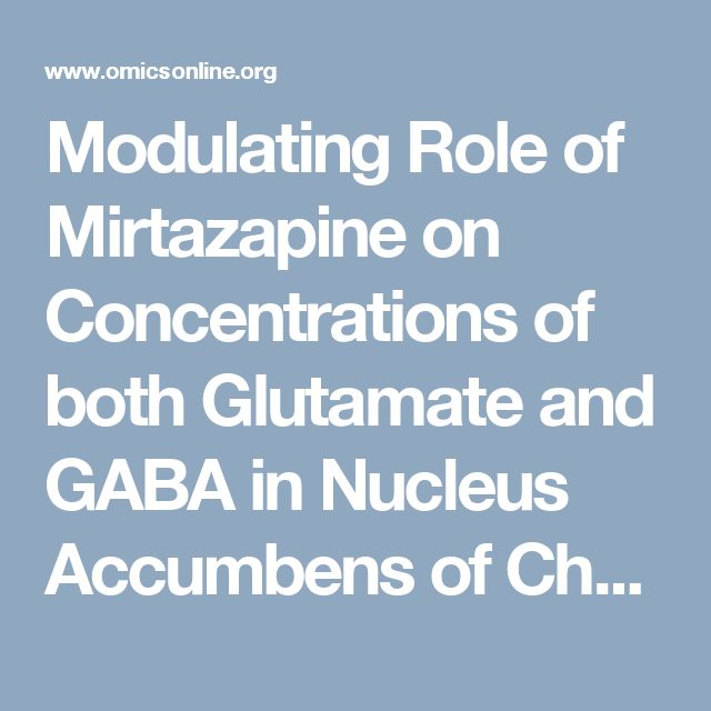 Modulating Role of Mirtazapine on Concentrations of both Glutamate and GABA in Nucleus Accumbens of Chronic Mild Stressed Albino Rats | Open Access Journals