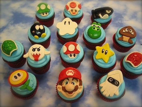 for my boys party?: Theme Cupcakes, Supermario, Birthday Cupcakes, Super Mario Brother, Mario Bros, Mariobros, Cupcakes Parties, Parties Cupcakes, Mario Cupcakes