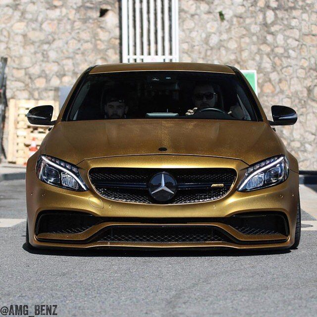 Sport Car Collections Jayde Mercedes Benz Customized: Gold Wrapped C63S AMG.