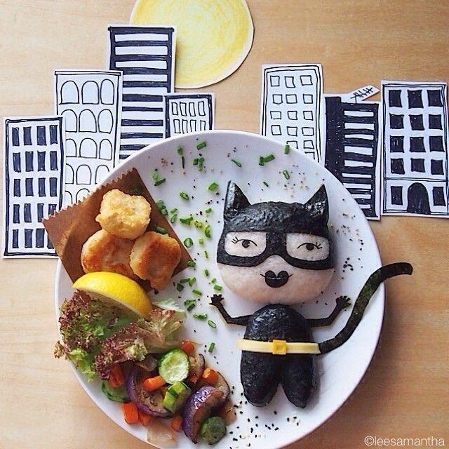Cat-woman (idee-per-far-mangiare-verdure-ai-bambini) by Samantha Lee