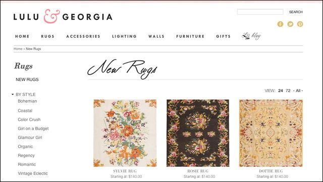 Where to shop for decor online: Lulu & Georgia for Rugs