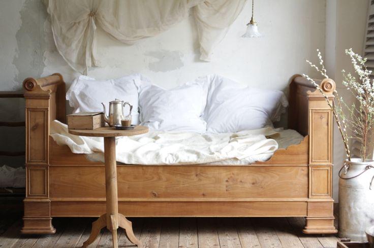 アンティークシングルベッド フランス チェリー
