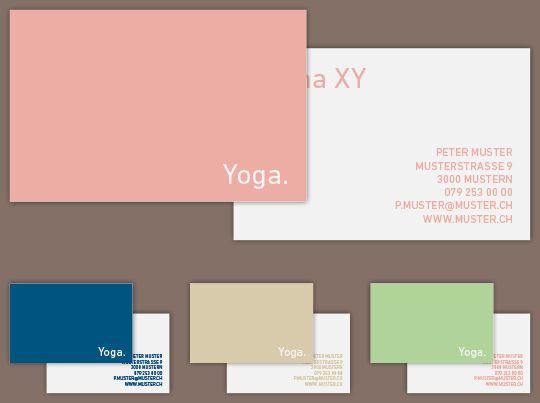 Visitenkarte «Yoga»