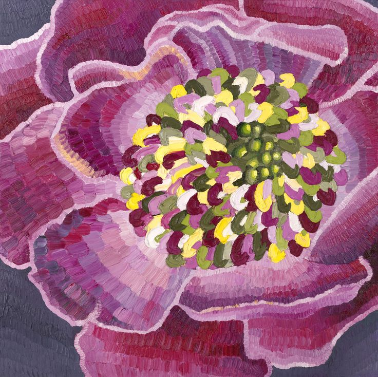 Camellia, oil on canvas, Elisabeth Howlett, 2014. In this painting the centre of the flower features knife painting. It was the first time I had tried this.